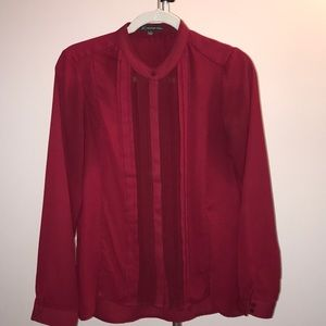 Adrianna Papell Wine colored blouse size Small